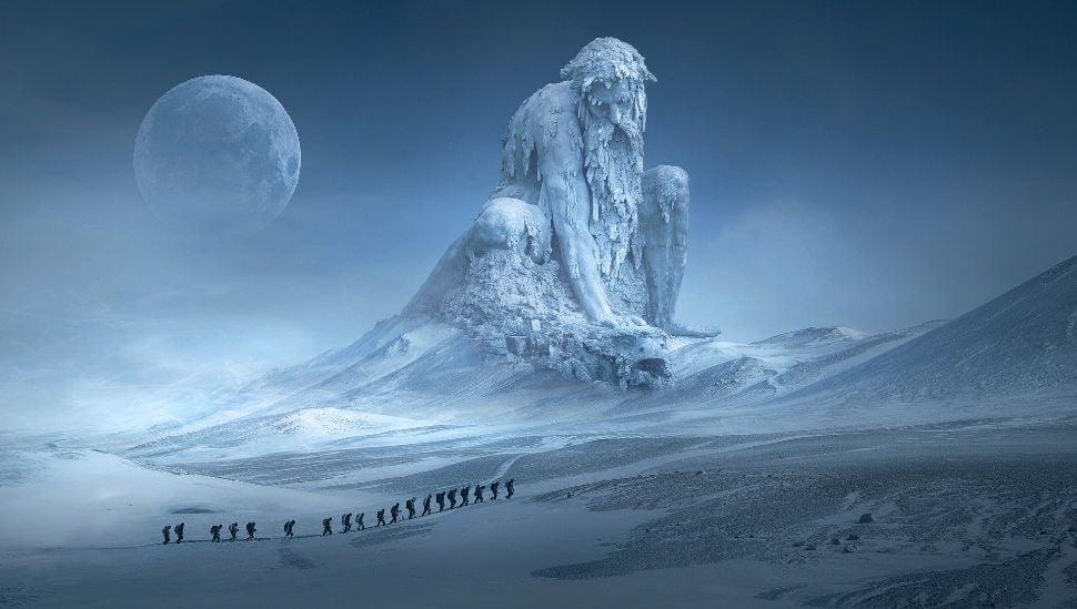 Soñar con nieve en la montaña