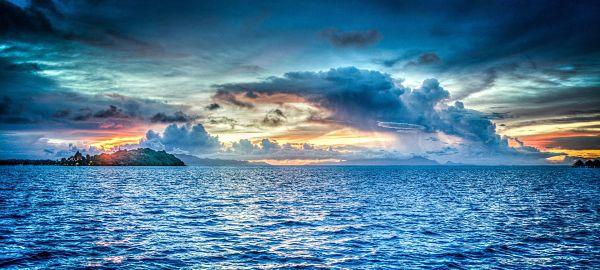 soñar con el mar azul